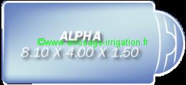 Piscine coque polyester Modèle ALPHA