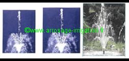 Effet d'eau - ajutage à étage - SR 19/7 - SR 37/10 - Volcan 43-3