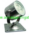 Éclairage alimentation 230v Spot Orientable Inox