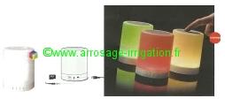 Projecteur Rechargeable Lampe Haut Parleur Bluetooth