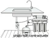 Filtration d'eau domestique par OSMOSEUR
