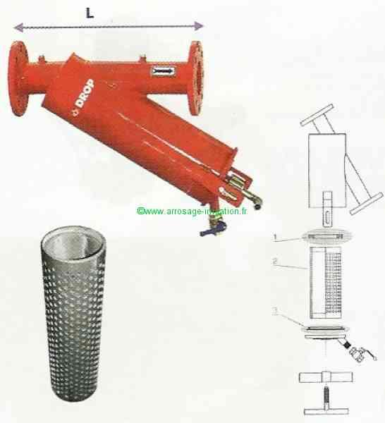 Pi ces d tach es filtre drop arrosage irrigation agricole for Piece detachee pour enrouleur bache piscine