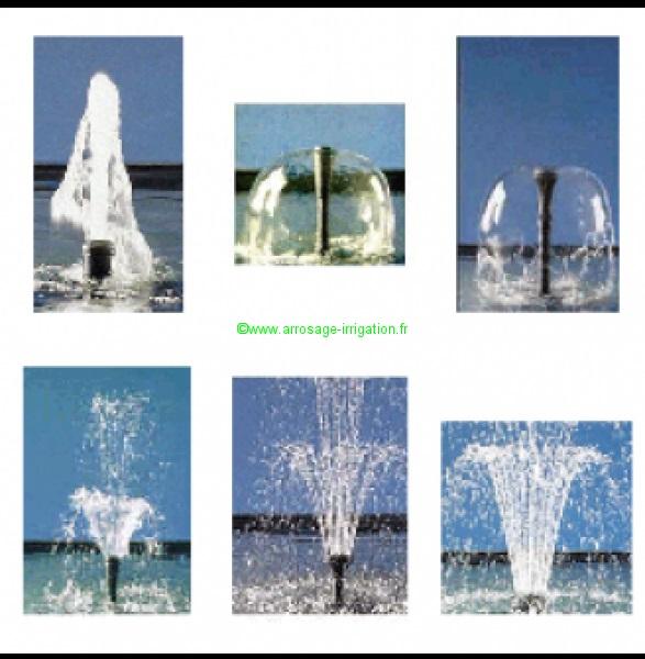 Jets d\'eau, jet de fontaine, Ajutage, pompe eau