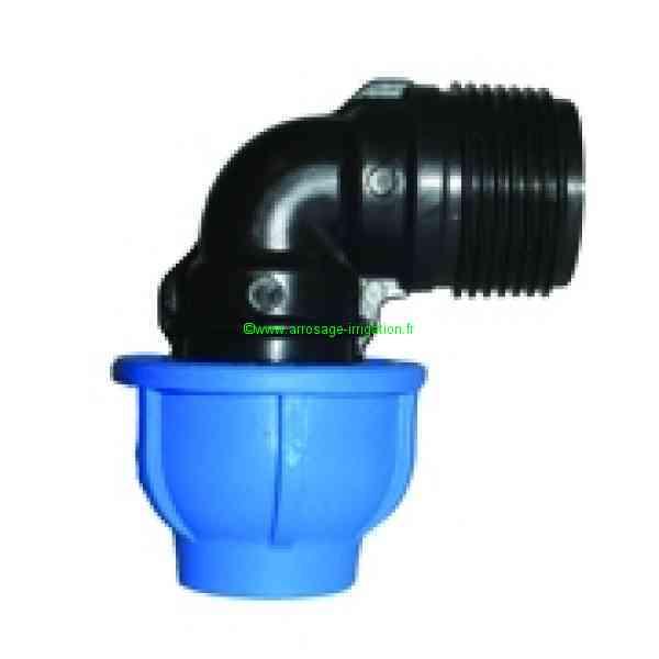 WRAS approuvés Irrigation MDPE plastique Compression Raccord 20 mm pour tuyau d/'eau